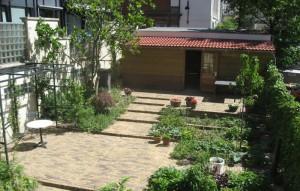 Binnentuin, ontworpen door Cilia Prenen